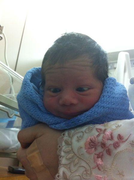 Бесплатный фотоприкол малыш, младенец, новорожденный