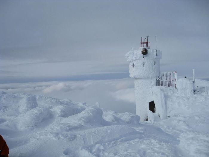 обсерватория, зима, рекорд, ветер, высота, гора