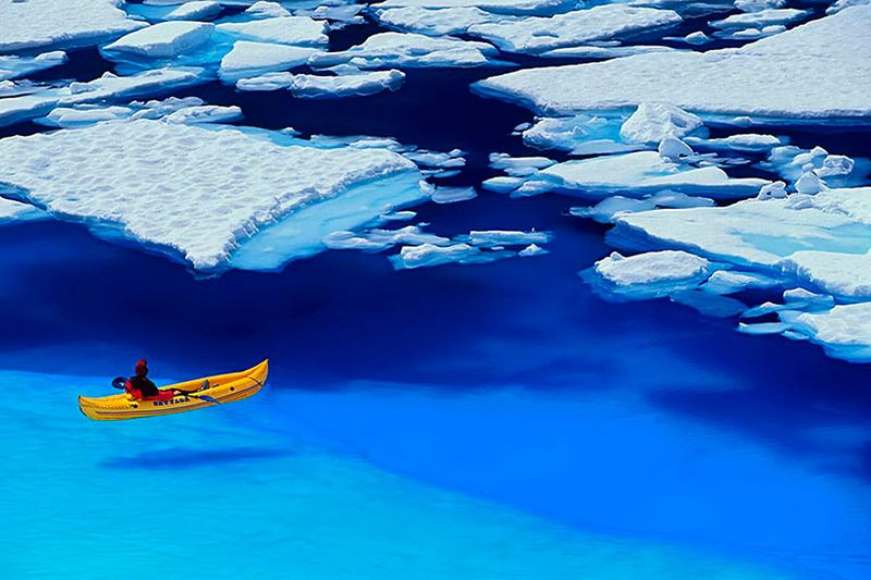 Фото прикол арктика, красота природы, льдины
