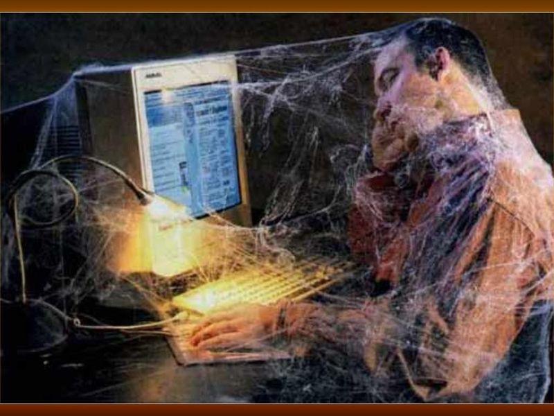 Фото задрот, компьютер, паутина, прикол