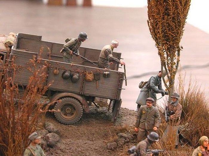 Реалистичные макеты военных действий