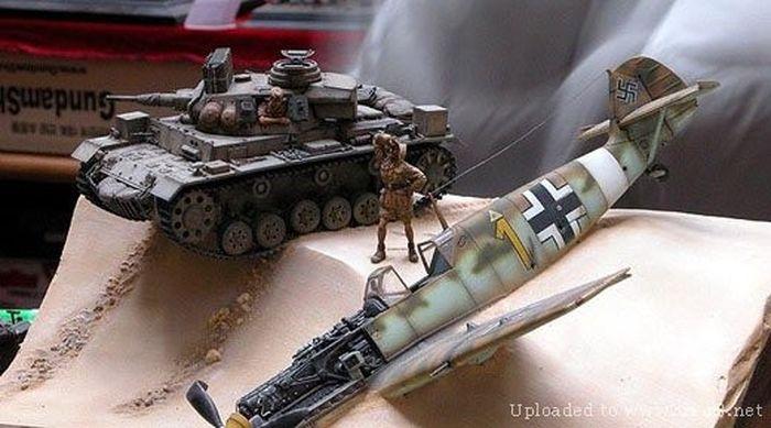 макет, миниатюра, война