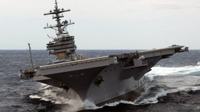 Фотожесть авианосец, в море, военный корабль