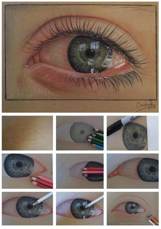 Смешные картинки глаз, инструкция, красивый рисунок, художник