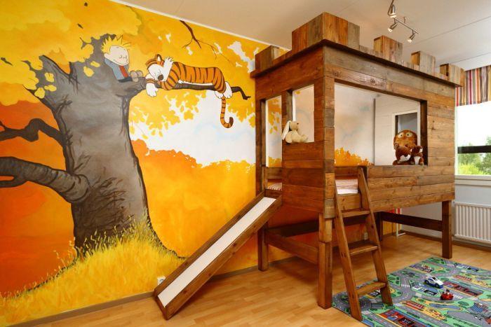Новый фотоприкол детская комната, круто, рисунок на стене