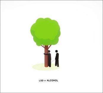 Алкоголь + ЛСД