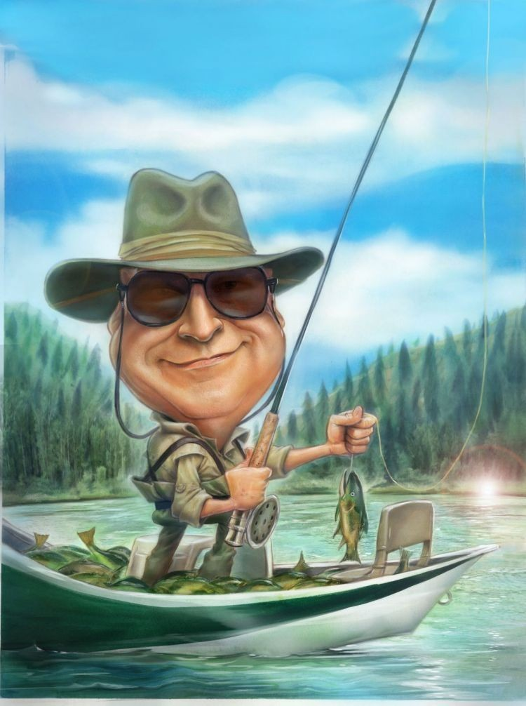 Картинки с рыбалкой прикольные нарисованные, открытки новым