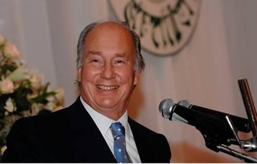 Prince Karim Al Husseini Aga Khan – leader of 15 million Ismaili Muslims