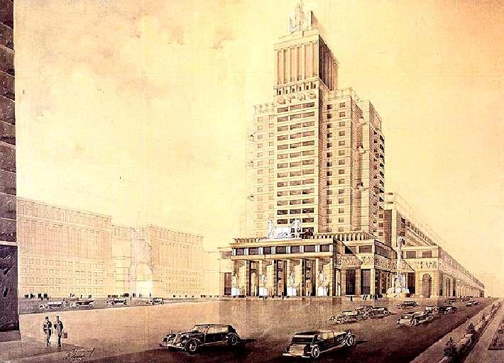 Дом книги. (И. Голосов, П. Антонов, А. Журавлев. 1934)