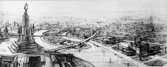 Дворец Советов - наверное, самый масштабный проект, который должен был стать самым большим и высоким зданием мира на тот момент.