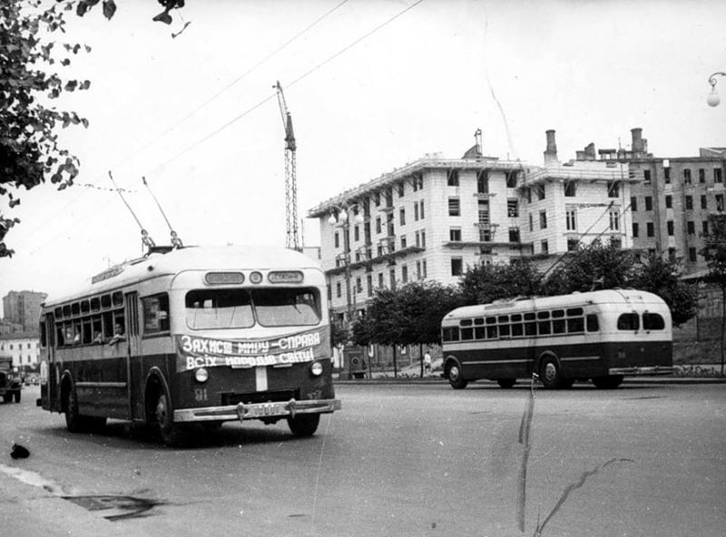 Послевоенное восстановление Крещатика, 1950 г.