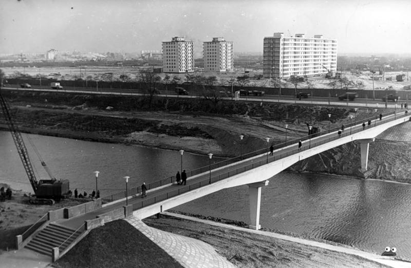 Застройка Березняков, вид с улицы Энтузиастов, ноябрь 1967 года