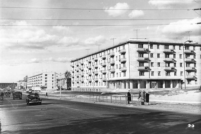 Перекресток Харьковского шоссе и улицы Гашека, август 1962 года