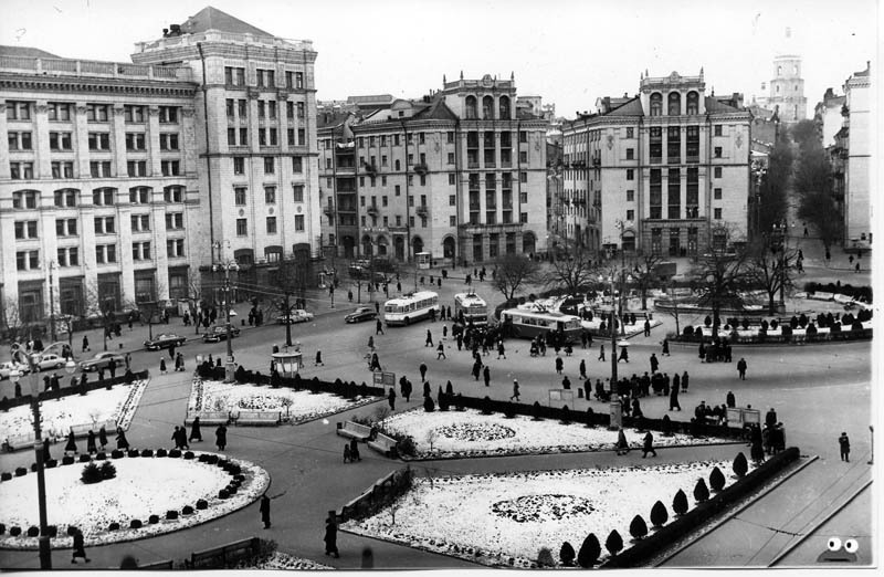 Площадь Калинина, 1960-е. Так в те годы назывался Майдан Незалежності