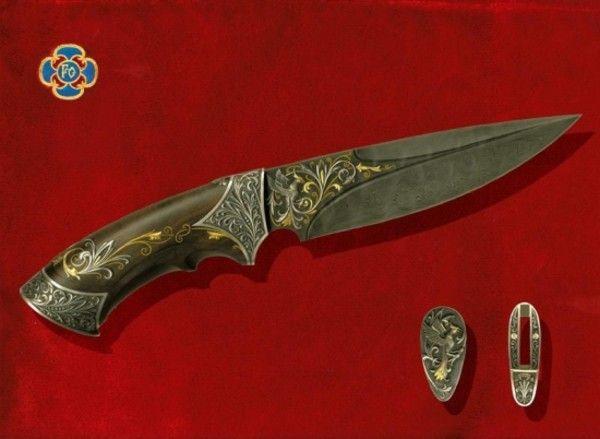 Коллекционные и охотничьи ножи Русских мастеров (15 фото)