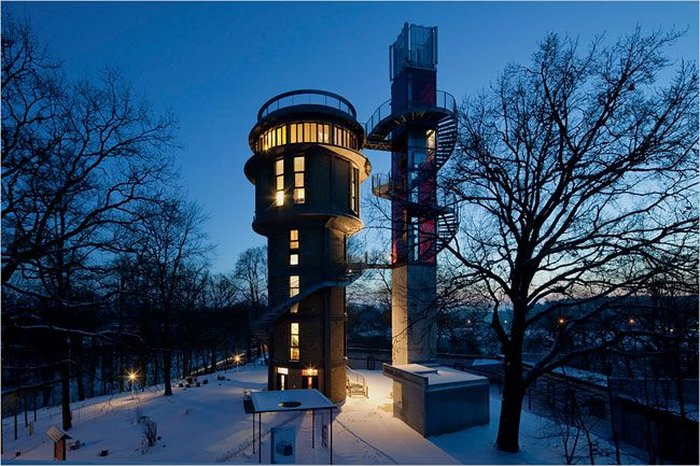Водонапорная башня дом россия