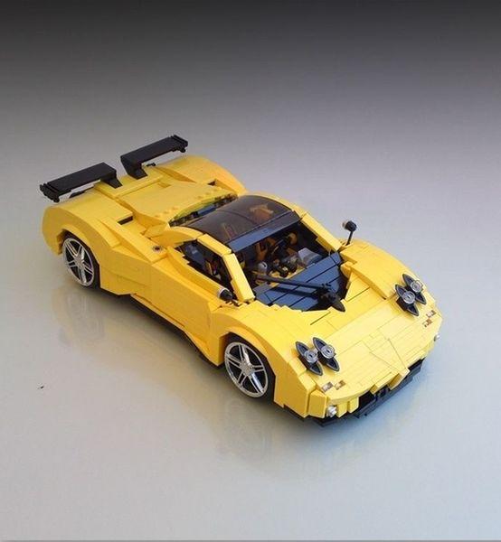 Супер-кар Pagani Zonda C12 из LEGO (20 фото)