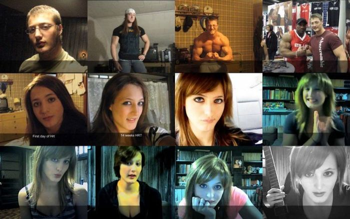 Трансформации из мужчин в женщин (9 фото)