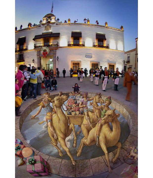 Три мага приносят подарки детям Керетаро, Мексика, в декабре 2010 года.
