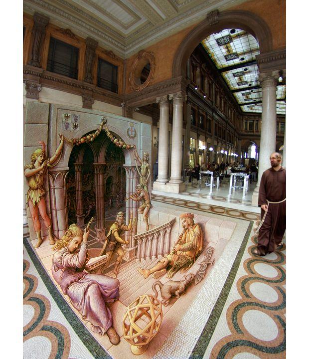Эта работа была создана в Риме в марте 2008 года по случаю 500-летия прибытия Леонардо да Винчи в Милан.