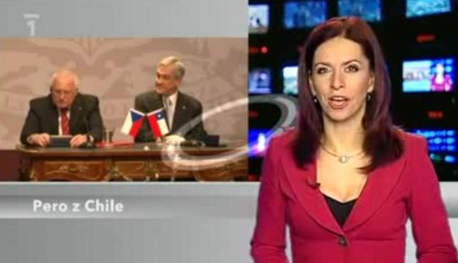 Президент Чехии крадет авторучку (видео)