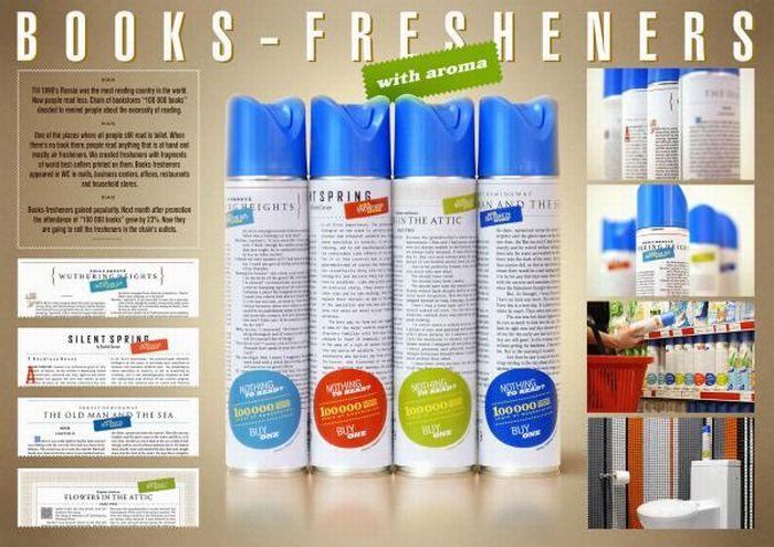 Книги на освежителях воздуха (8 фото)