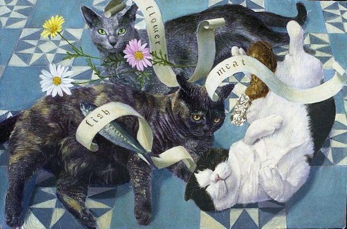 Коты-короли и другие работы Tokuhiro Kawai (28 фото)