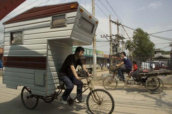 Вело-дом на колесах (7 фото)