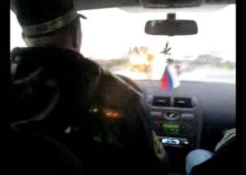 ИДПС гонит машину на штрафстоянку под веселую музыку