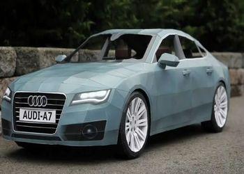 Audi A7 из листов бумаги