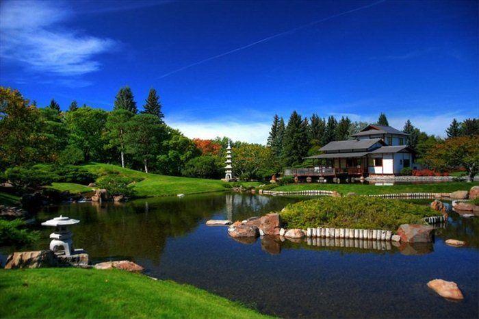 Живописный японский сад в Канаде (21 Фото)