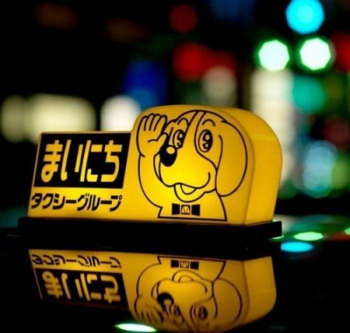 Креативные и необычные шашки такси в Токио (31 фото)