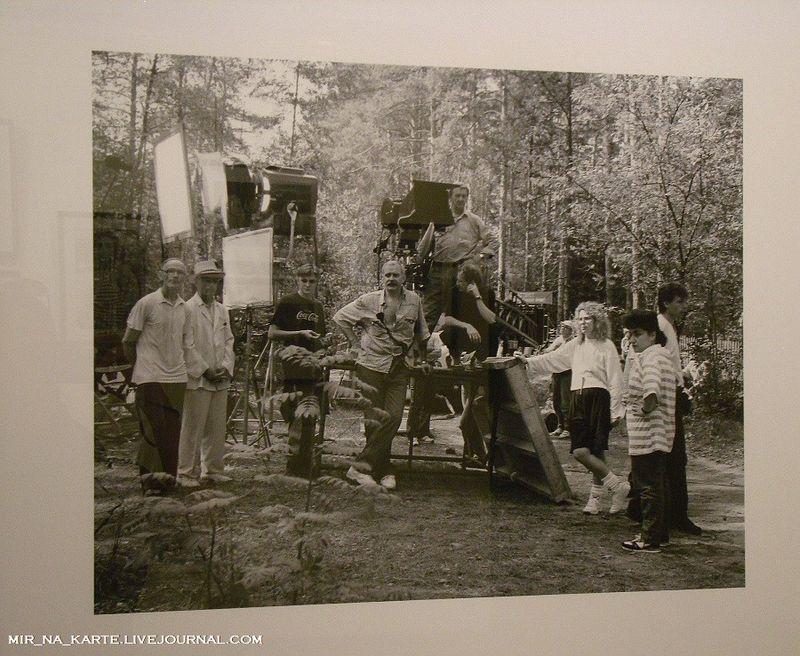 """14. Никита Михалов на съемках """"Утомленных солнцем"""", 1993 год"""