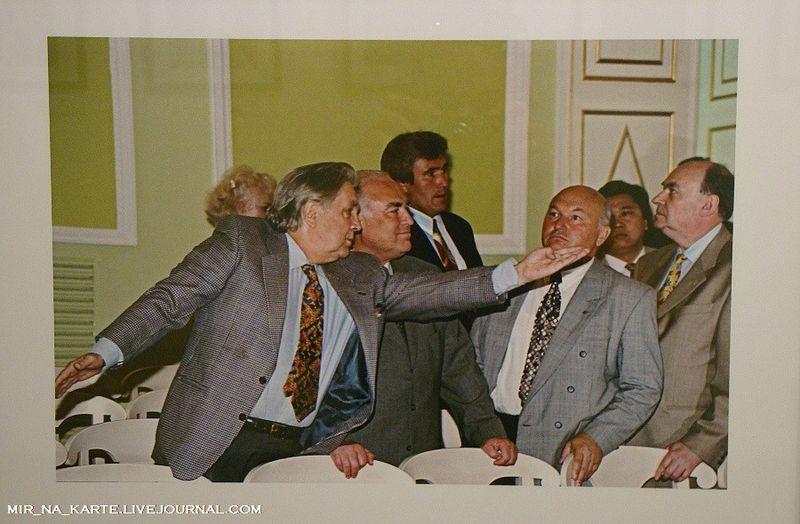 54.  Илья Глазунов, Виктор Черномырдин и Юрий Лужков, 1987 год