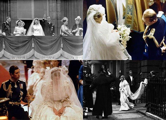 Королевские свадьбы прошлых лет (29 фото + текст)