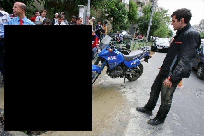 езда по лужам в Бухаресте не привела ни к чему хорошему (6 фото)