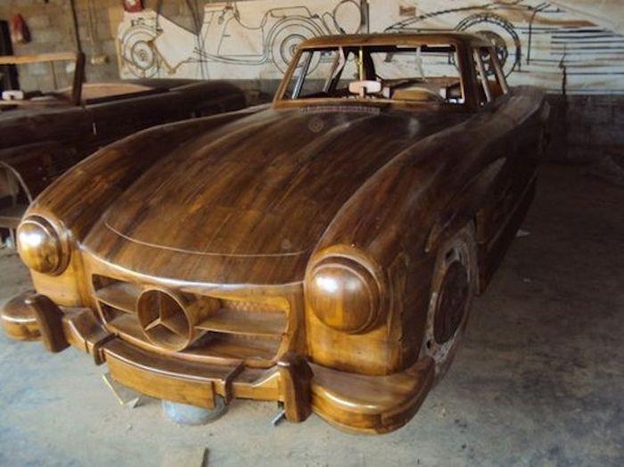 Mercedes-Benz 300SL Gullwing из натурального дерева (8 фото)