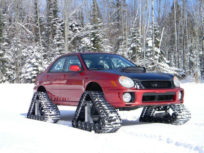 Subaru Imprezа на гусеничном ходу (15 фото+видео)
