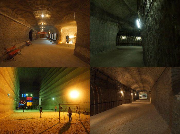 Соледар, соляные шахты (46 фото)