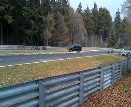 Honda CR-V перевернулся на гоночном треке