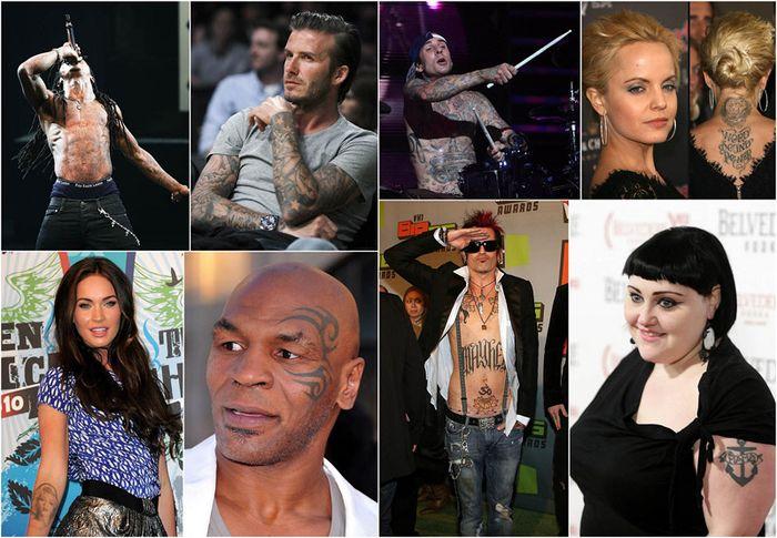 Звезды и их татуировки (46 фото)