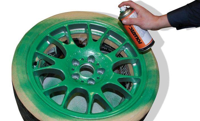 Спрей для самостоятельной покраски колесных дисков (5 фото)