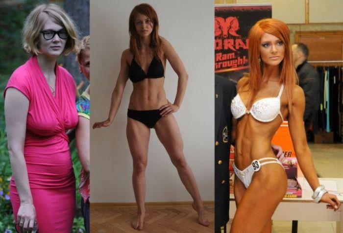 Идеальное тело и фигура девушки благодаря фитнесу (7 фото)