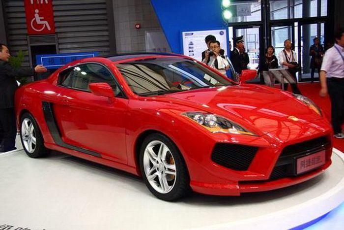 Китайская смесь из Ferrari-Lamborghini-Audi (6 фото)
