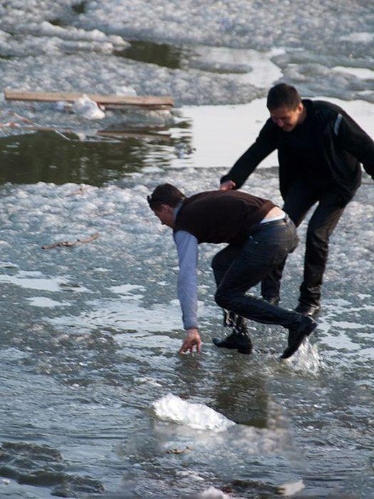 карьеру картинки человек на льдине нужно