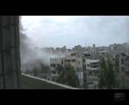 Бомбандировка жилых домов в Сирии