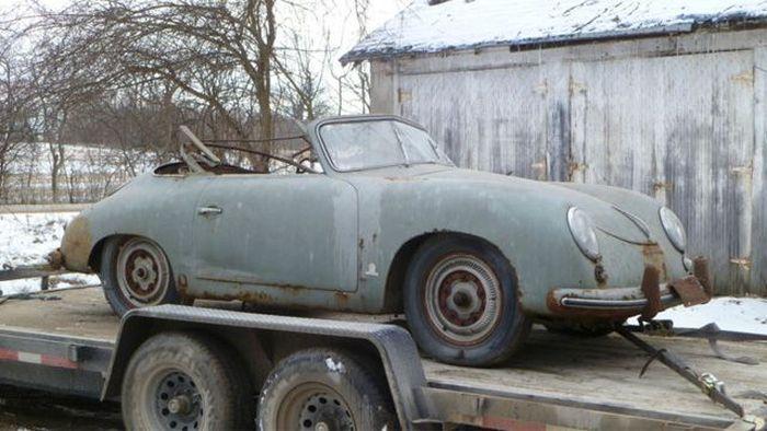 Редчайший кабриолет Porsche 356 нашли в гараже (10 фото)