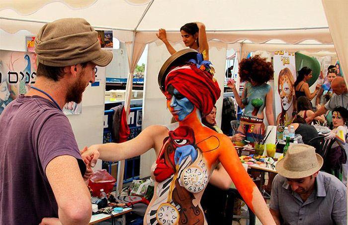 Фестиваль Тело вместо холста в Тель-Авиве (52 фото)