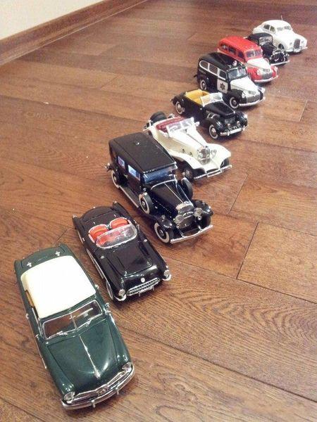 Коллекция классических автомобильных моделей (43 фото)