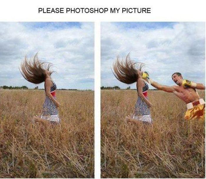 Прикол картинка прикол, удар, фотожаба, фотошоп